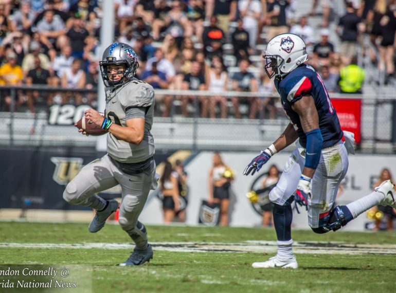 ORLANDO (FNN SPORTS) - UCF took its 12th place position in the College Football Playoff ranking into Saturday's game against the UConn Huskies, trying to impress the voters to put them into the top 10. Photo: Brandon Connelly/Florida National News.