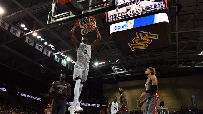 ORLANDO (FNN SPORTS) - Without All-Conference honorees Tacko Fall and B.J. Taylor, the UCF men's basketball team fought through adversity to win 68-65 over visiting Gardner-Webb Wednesday night. Photo: Orlando Sentinel.