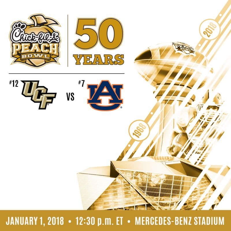 2018 Chick Fil A Peach Bowl Between Ucf And Auburn Is Sold