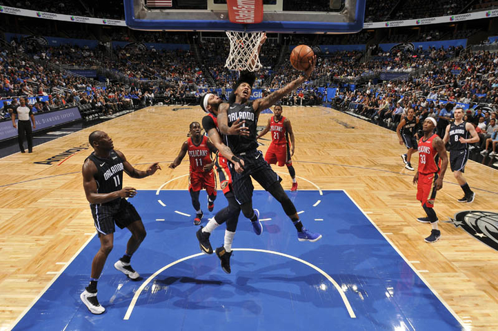 ORLANDO (FNN SPORTS) - The shorthanded Orlando Magic struggled to find offensive rhythm against the New Orleans Pelicans at Amway Center Friday night. Photo by Fernando Medina/NBAE via Getty Images