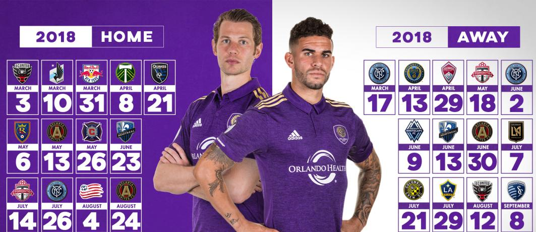 Orlando City Sc Unveils 2018 Mls Regular Season Schedule
