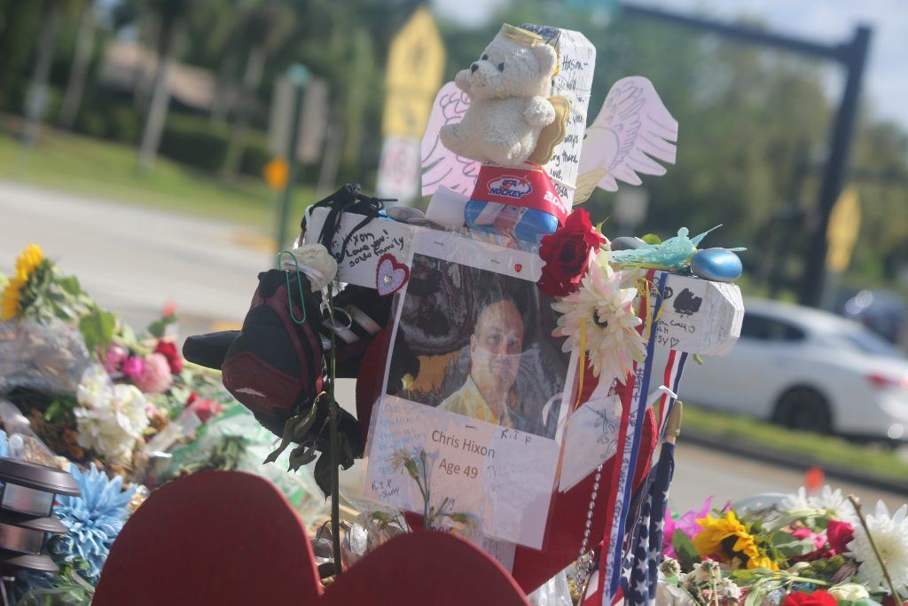 Personalized memorials with photos were made for each of the 17 victims who lost their lives in the Marjory Stoneman Douglas High School mass shooting in Parkland, Florida. Photo: Willie David/Florida National News.