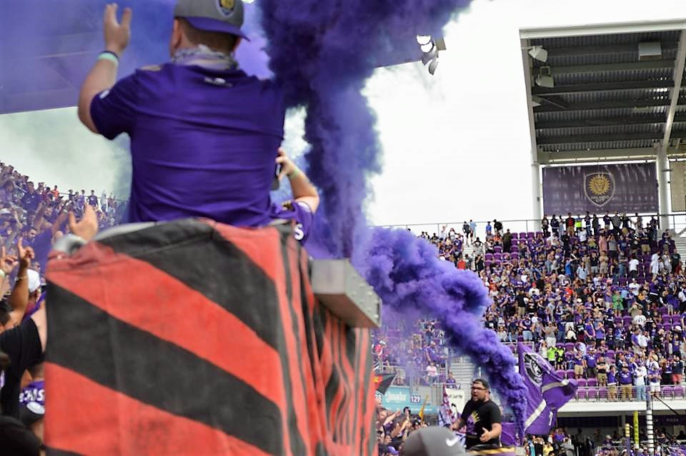 The Ruckus and the crowd go wild as Orlando City scores a goal. Photo: Smail Yahiaoui / Florida National News.