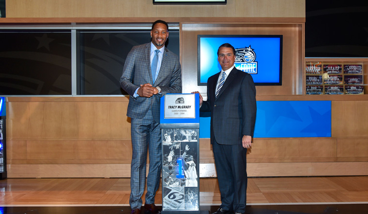 66260ca42d8 ORLANDO – By John Denton, (orlandomagic.com) – On Tuesday, some 21 years  after Tracy McGrady boldly told family members that he would someday play  for the ...