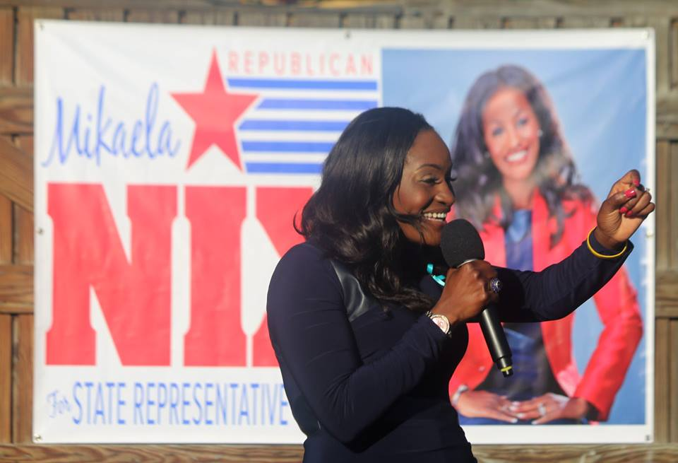 ORLANDO (FNN NEWS) - Florida House District 47 candidate Mikaela Nix impressed upon supporters Wednesday why she is perfect for the job. Photo: Willie David/Florida National News.
