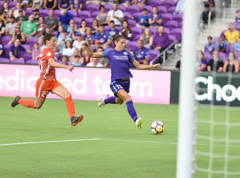 ORLANDO (FNN SPORTS) - Orlando Pride conceded two goals in 2-1 loss to Houston Wednesday. Photo: Nick Leyva/The Mane Land.