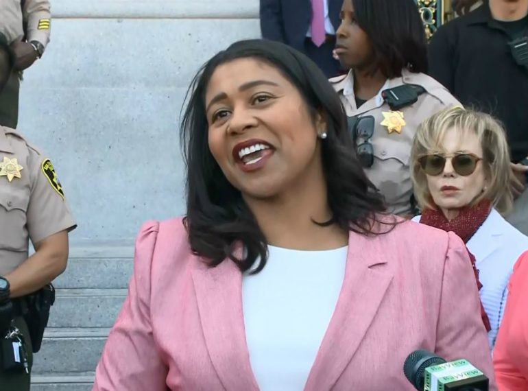 SAN FRANCISCO (CNN) - London Breed became the first African-American woman elected to lead San Francisco on Wednesday, when her opponent conceded a tight race. Photo: CBS.