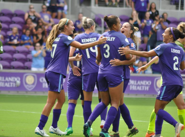 ORLANDO (FNN SPORTS) - Orlando's Toni Pressley scored and helped the Pride stand against Seattle Reign to get the draw Saturday. Photo: Willie David/Florida National News.