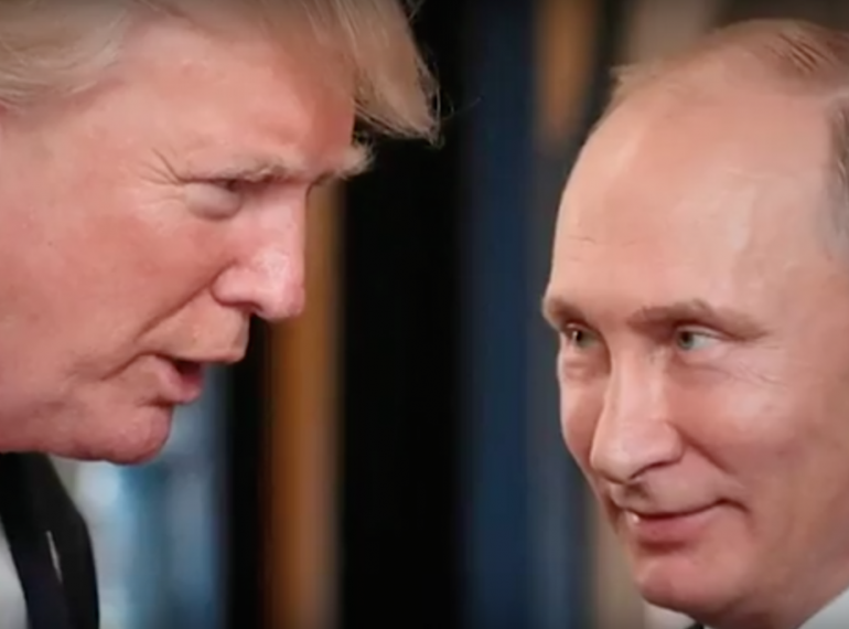 Trump and Putin photo courtesy of Alan Grayson for Congress campaign video.