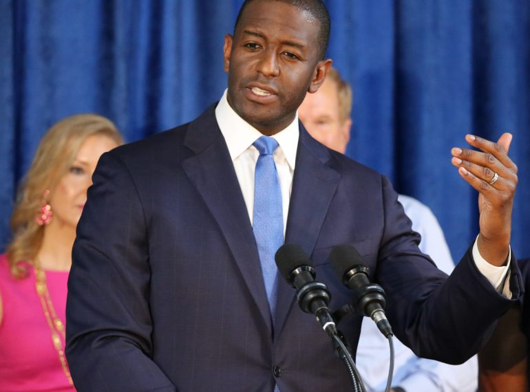 KISSIMMEE (FNN NEWS) - Florida gubernatorial candidate and Tallahassee Mayor Andrew Gillum will be interviewed on the Tom Joyner Morning Show at 7am ET Friday at the Allstate Tom Joyner Family Reunion Expo. Florida National News photo/Willie David.