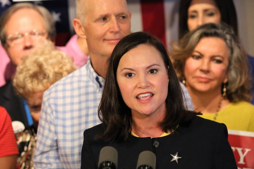 ORLANDO (FNN NEWS) - Gov. Rick Scott and other Florida GOP candidates showed Attorney General nominee Ashley Moody unwavering support Thursday. (Florida National News photo/Willie David)