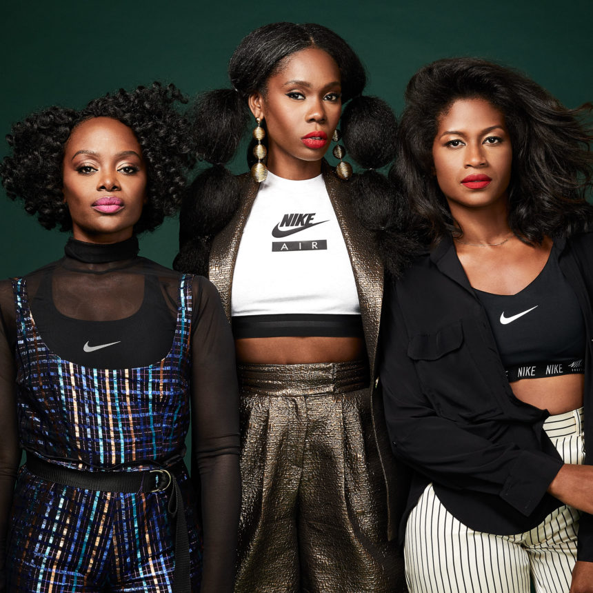 "Fe Noel, Kimberly Goldson, and Undra Celeste (Harlem Fashion Row Designers) are among the 16 black women who Lebron James feels exemplify strength in his ""The Strongest"" social media promotion for the launch of his 16th Nike sneaker Wednesday, September 5, 2018. Photo: Lelanie Foster."