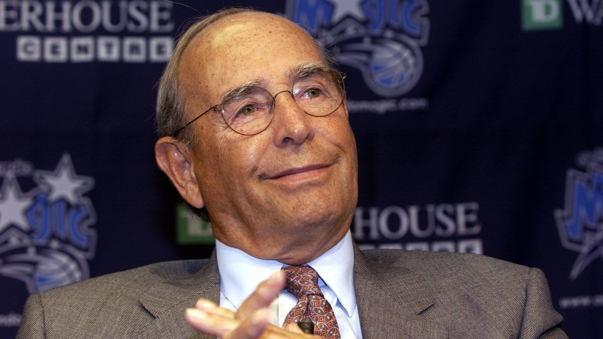 Amway founder and Orlando Magic owner Richard DeVos died Thursday due to complications from fighting an infection. Photo: Orlando Sentinel.