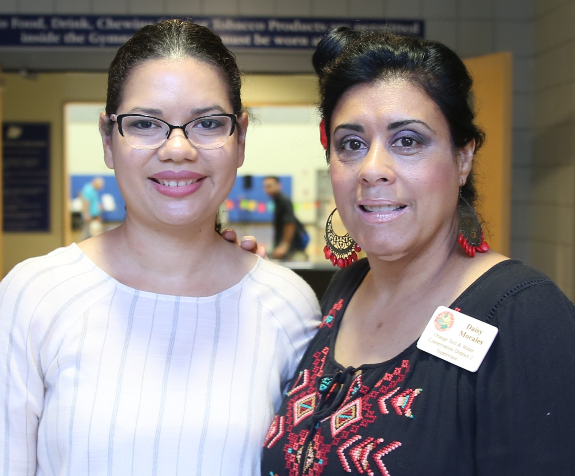 Orange Soil & Water Conservation District Supervisor Daisy Morales (right) joined Orange County Commissioner Emily Bonilla during her Hispanic Heritage Month celebration Fiesta Cultural at South Econ Recreation Center Sunday, October 14, 2018. Photo: Willie David/Florida National News.