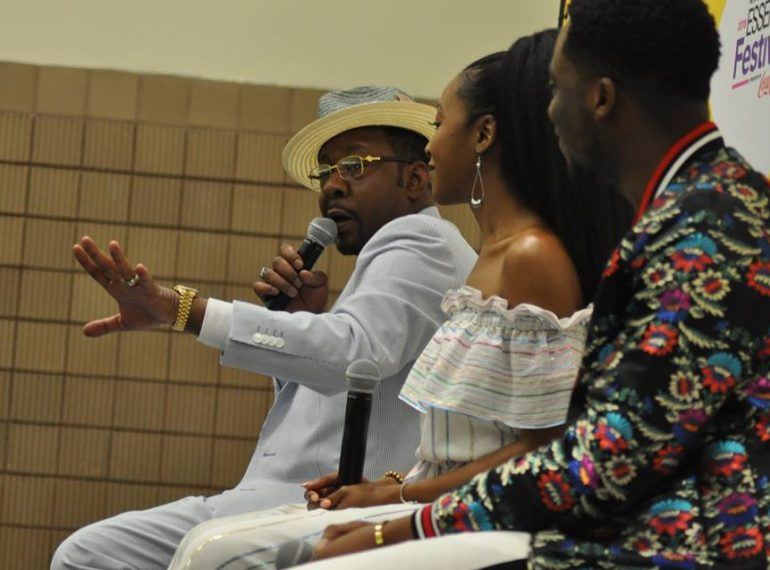 FILE - Bobby Brown talks about his biopic along with the stars of the film at the 2018 ESSENCE Festival in New Orleans, Louisiana. Photo: Florida National News.