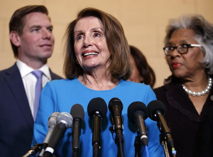 NATIONAL | WASHINGTON (AP) - Pelosi nominated to reclaim speakership, still faces test