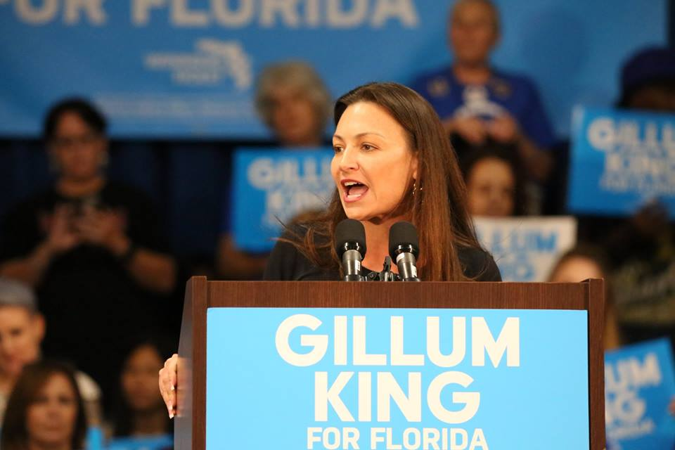 FILE - Nikki Fried, then Democratic candidate for Florida Commissioner of Agriculture, speaks at a Gillum-King campaign rally in Orlando on Setpember 8, 2018. (Photo by Willie David / Florida National News)