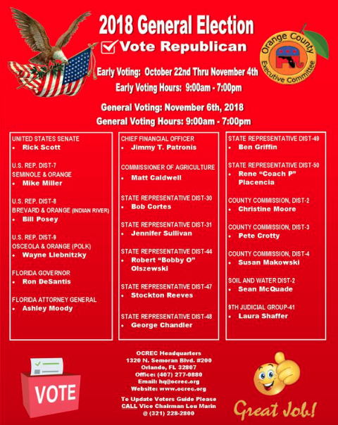 The Orange County Republican Executive Committee includes circuit court judge candidate Laura Shaffer in its slate as well. Source: ocrec.org.