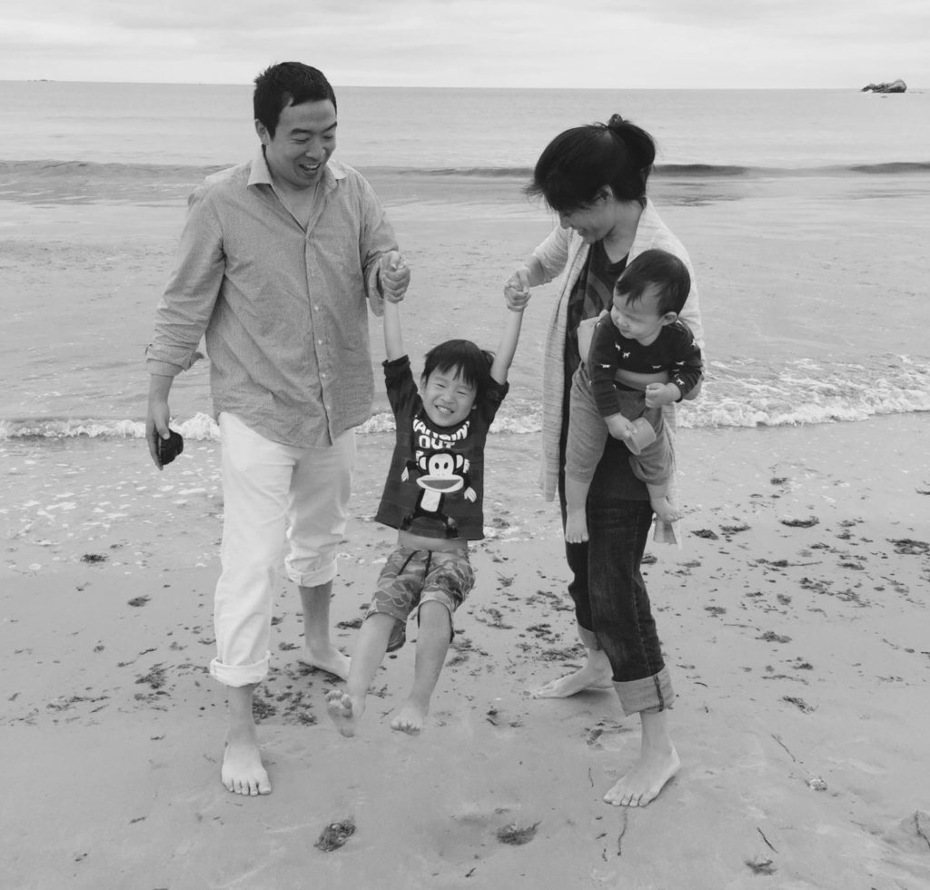 "Andrew Yang and his wife Evelyn have two young boys. ""I had no choice but to act. I'm the father of two young boys. I know the country my sons will grow up in is going to be very different than the one I grew up in, and I want to look back at my life knowing I did everything in my power to create the kind of future our children deserve—an America of opportunity, freedom, equality, and abundance,"" says Yang on his campaign website. Photo: Andrew Yang."