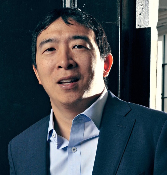 New York-based entrepreneur Andrew Yang seeks the U.S. presidency as part of a mission to drastically transform the U.S. economy. Photo: Guerin Blask/New York Times