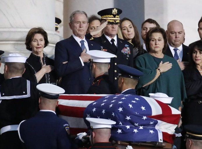 NATIONAL | WASHINGTON (AP) — At Capitol, Bush saluted as gentle soul, great man