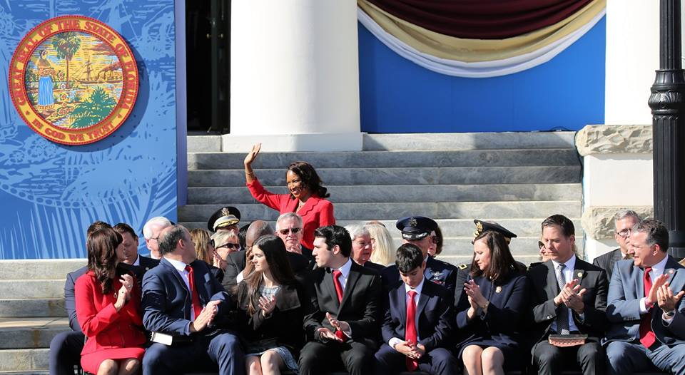 Former lieutenant governor Jennifer Carroll lent her support to the new cabinet during the 2019 inauguration January 8, 2019. Photo: Mellissa Thomas/Florida National News.