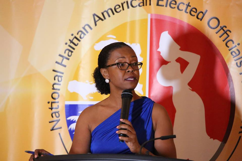 Karen Andre, former White House Liaison for the U.S. Department of Housing and Urban Development, was the mistress of ceremonies during the NHAEON Leadership Dinner Saturday, January 26, 2019. Photo: Willie David/Florida National News.