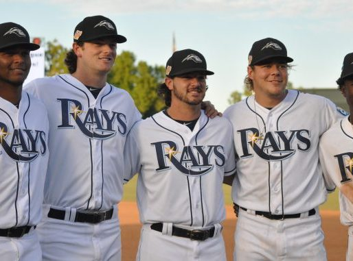 Left to right: Ronaldo Hernandez. Matt Krook, Phoenix Sanders, Daulton Moats & Lucius Fox. Photo: Gail Verderico for www.Prospects1500.com.