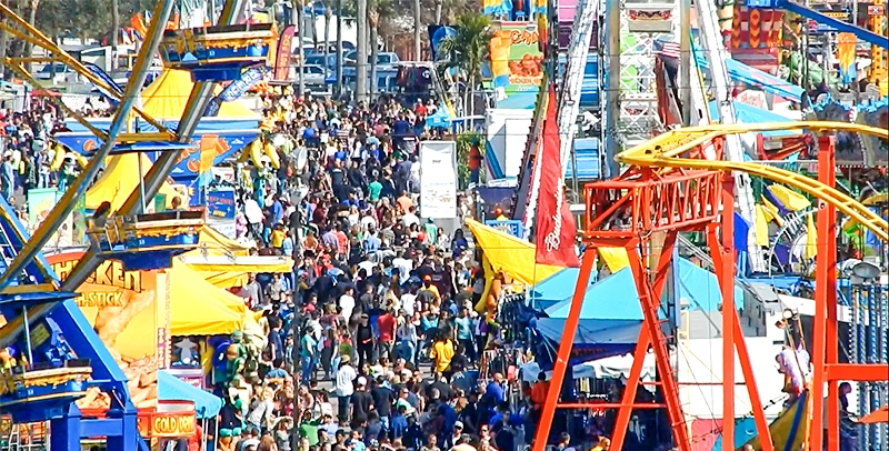 Thousands of Floridians were on hand to witness the kickoff and first full day of the 2019 Florida State Fair at the Florida State Fairgrounds in Tampa Thursday, February 7, 2019. (Florida National News photo)