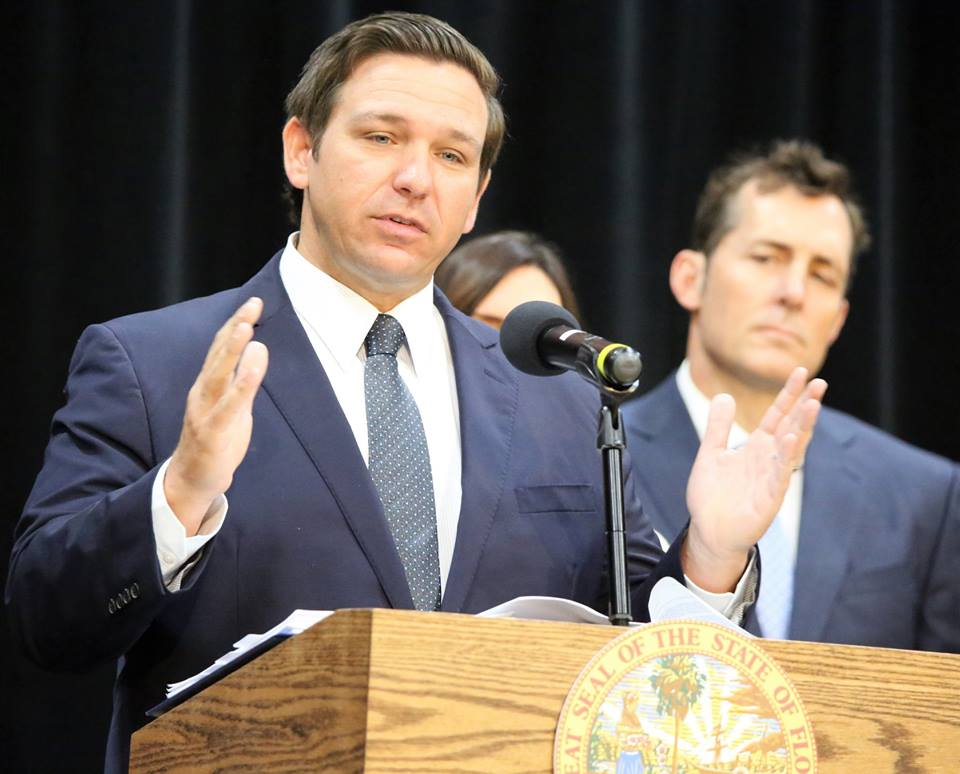 """File - Florida Governor Ron DeSantis holds """"Deregathon workshop with 17 State licensing boards at Valencia College's East Campus in Orlando, Thursday, January 31, 2019. Photo by Willie David / Florida National News"""
