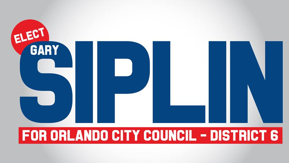 Gary Siplin for Orlando City Commission District 6 campaign logo courtesy of Gary Siplin (Facebook).