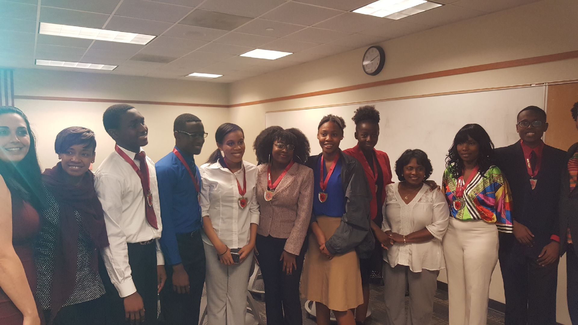 Hillsborough County Public Schools school social worker Julina Dolce Gurganious and her teams dominated the county and regional Cultural History Brain Bowl and moving up to the state level competition. Photo courtesy of Julina Gurganious.