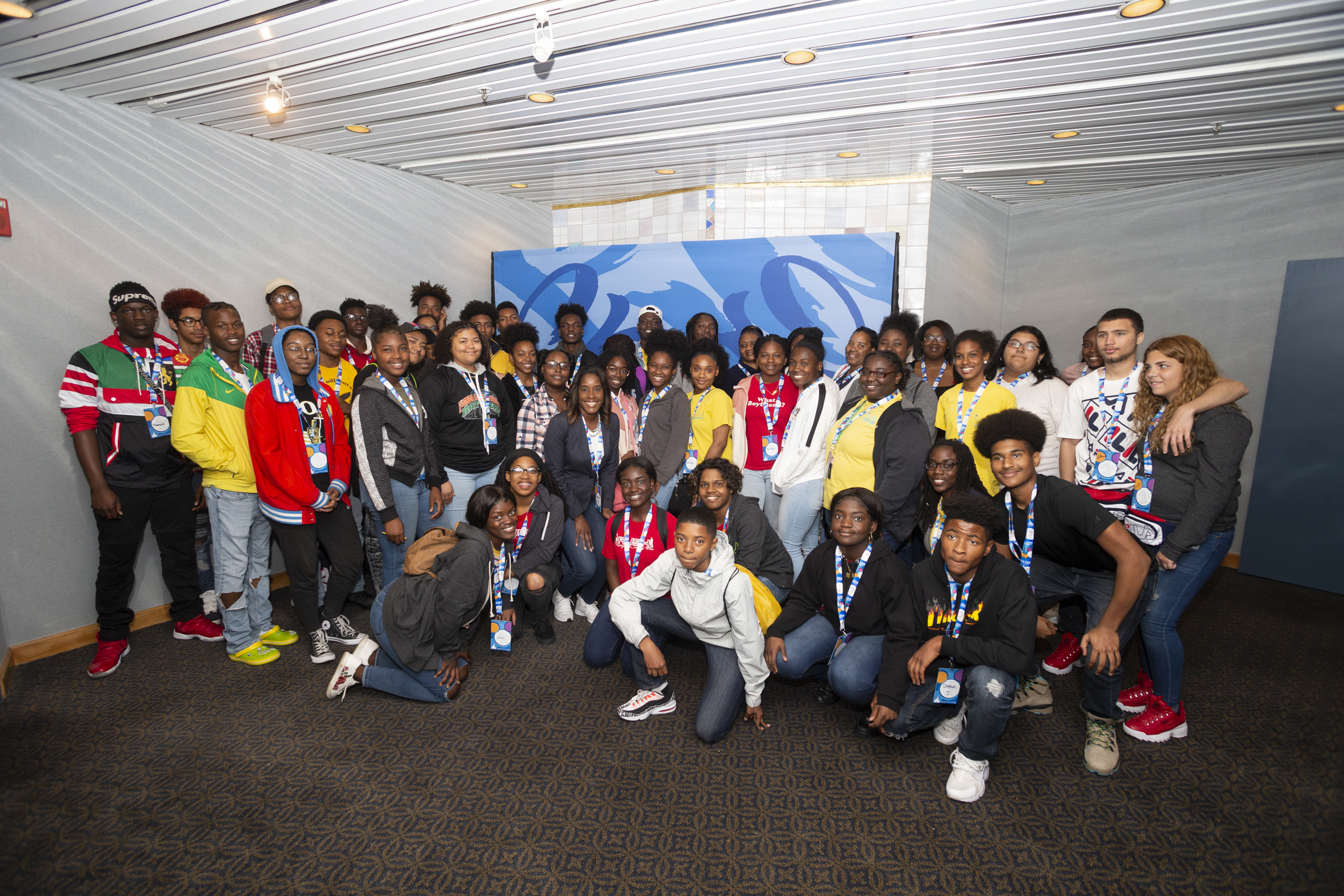Orange County Commissioner Victoria Siplin (center) treated 43 high school students to a day at Walt Disney World as part of her TLC Mentoring Program Monday, March 18, 2019. Photo: Orange County Government.