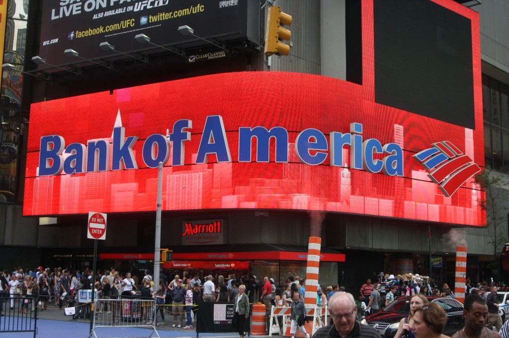 Bank of America. Photo courtesy of BizNews.com.