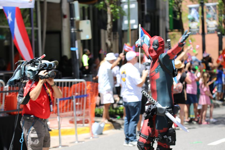 The heroes were a hit with the news crews as well. Photo: Willie David/Florida National News.