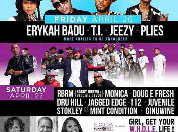 Funk Fest Orlando 2019 concert lineup
