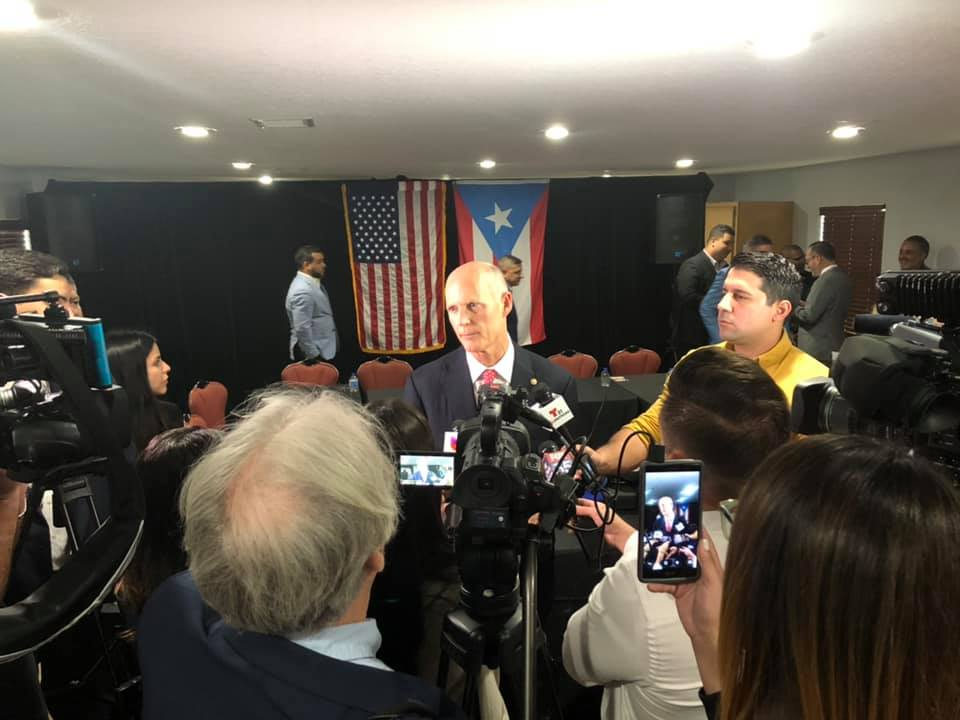Senator Scott holds a press conference following the round table discussion focused on Puerto Rico.