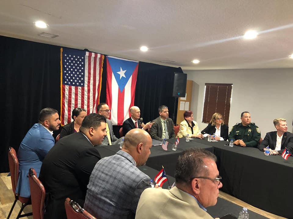 Community leaders engage with Senator Scott on issues facing Puerto Rico.