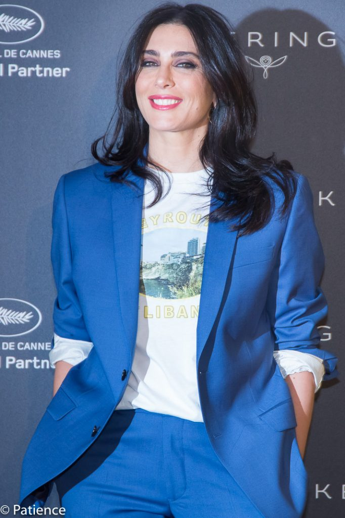 "Lebanese film director Nadine Labaki, president of this year's Un Certain Regard competition, on the red carpet before Kering's ""Women In Motion"" interview during the 2019 Cannes Film Festival. Photo: Patience Eding/Another Concept Magazine/Florida National News."