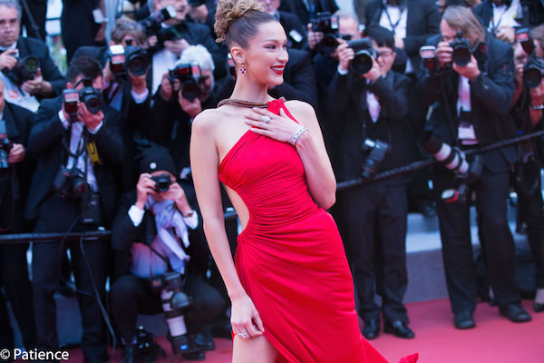 """Supermodel Bella Hadid outdid the red carpet she walked on at the """"Dolor Y Gloria"""" premiere during the 2019 Cannes Film Festival Friday. Photo: Patience Eding/Another Concept Magazine/Florida National News."""