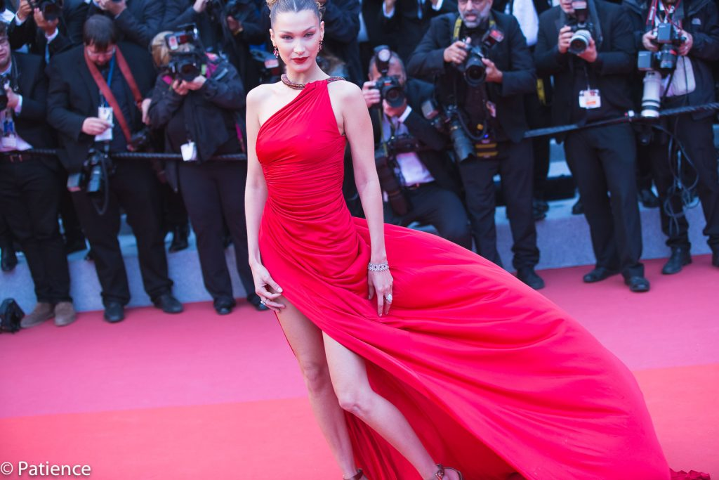 "Supermodel Bella Hadid on the 2019 Cannes Film Festival red carpet for the ""Dolor Y Gloria"" premiere Friday, May 17, 2019. Photo: Patience Eding/Another Concept Magazine/Florida National News."