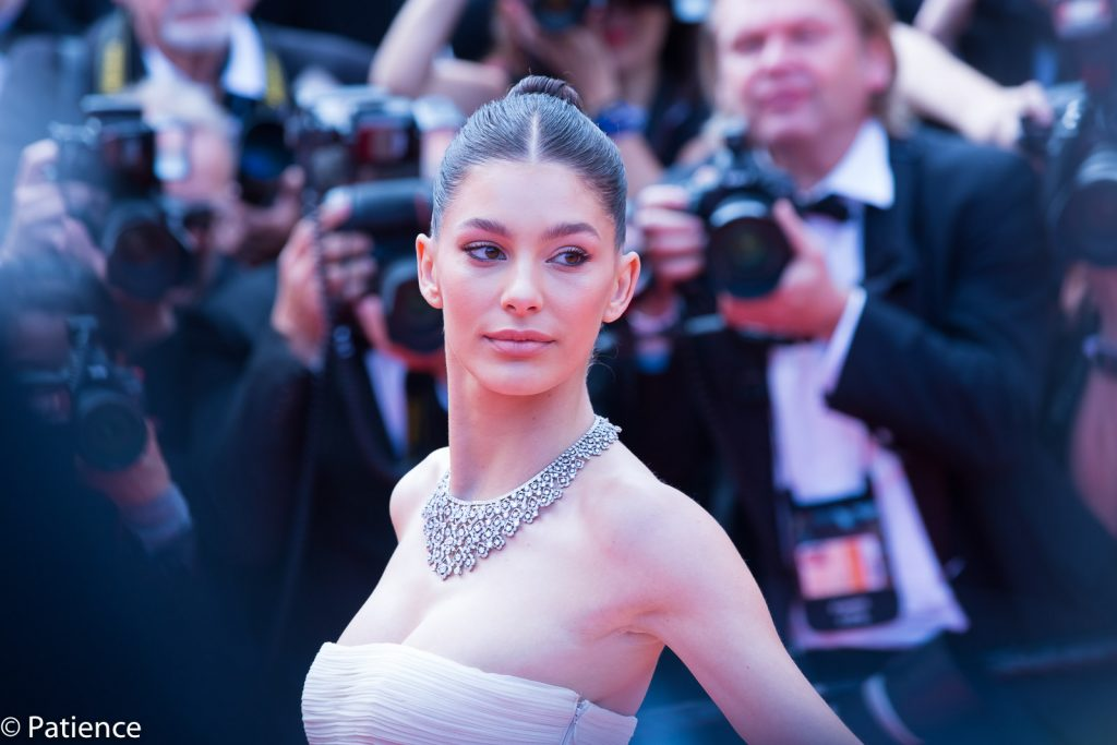 "Model Camila Morrone, Leonardo DiCaprio's girlfriend, had a glow all her own on the ""Once Upon a Time ... in Hollywood"" premiere red carpet at the 2019 Cannes Film Festival Tuesday, May 21. Photo: Patience Eding/Another Concept Magazine/Florida National News."