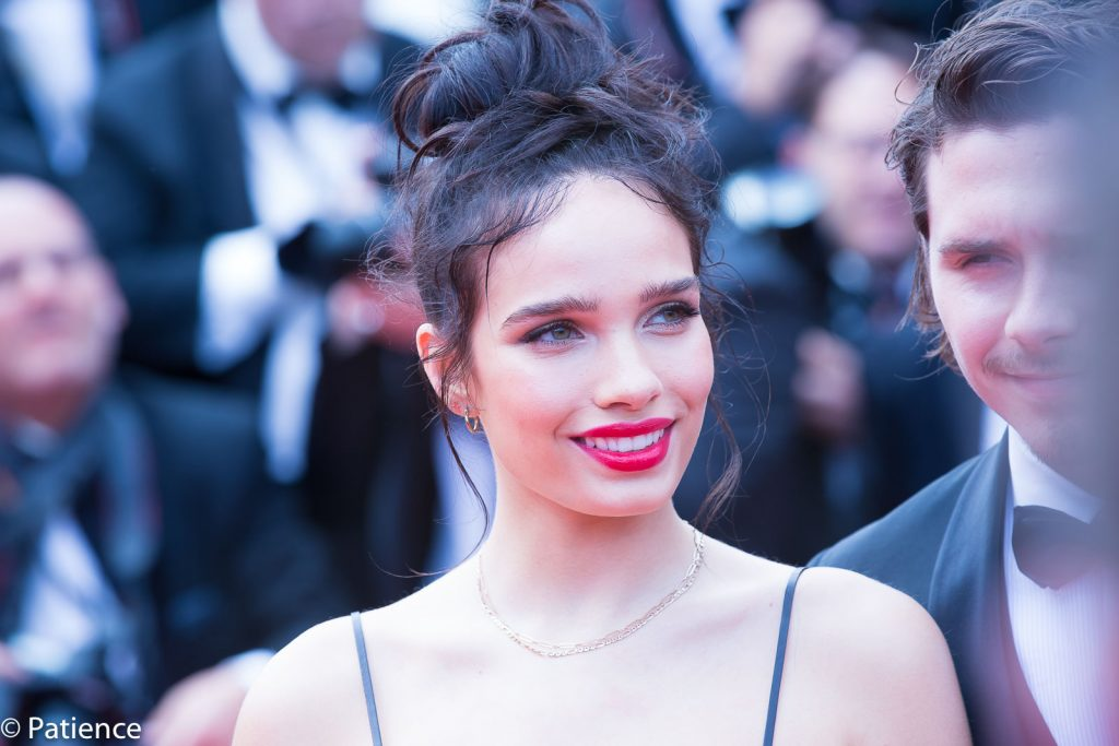 """Brooklyn Beckham's date Hana Cross complemented Bechkam (right) on the """"Once Upon a Time ... in Hollywood"""" premiere red carpet at the 2019 Cannes Film Festival Tuesday, May 21. Photo: Patience Eding/Another Concept Magazine/Florida National News."""