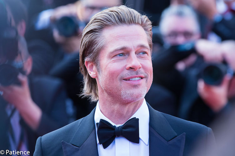 """""""Once Upon a Time ... in Hollywood"""" star Brad Pitt is all smiles on the 2019 Cannes Film Festival red carpet for the film's premiere Tuesday, May 21. Photo: Patience Eding/Another Concept Magazine/Florida National News."""