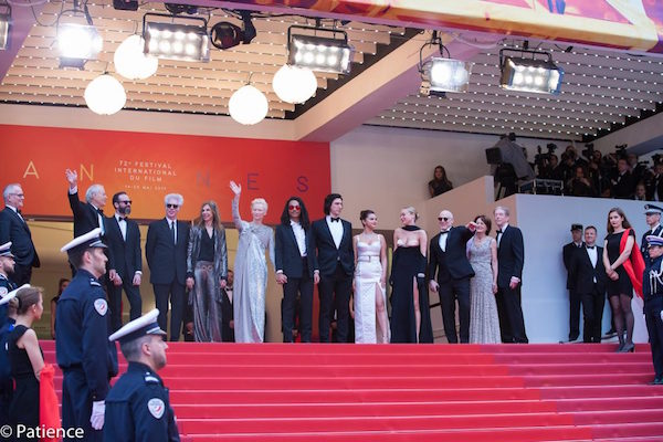 """The cast of """"The Dead Don't Die"""" on the red carpet during the Cannes Film Festival Opening Night on Tuesday, May 14, 2019. Photo: Patience Eding/Another Concept Magazine."""