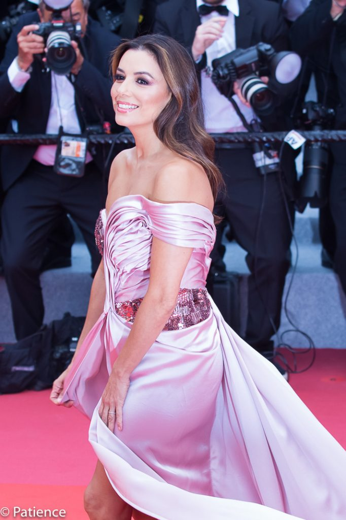 Eva Longoria on the 2019 Cannes Film Festival Opening Night red carpet. Photo by Patience Eding/Another Concept Magazine.
