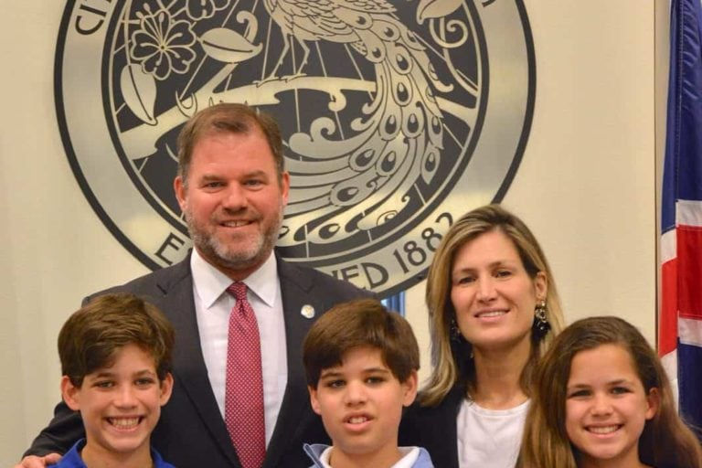 Mayor Steve Leary and his family. Photo courtesy of Mayor Leary.