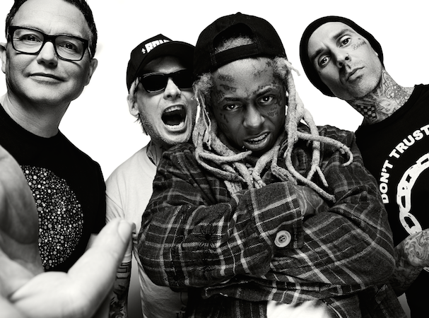 blink-182 and Lil Wayne (center) launch their North American Tour June 27, 2019. Photo: Live Nation.