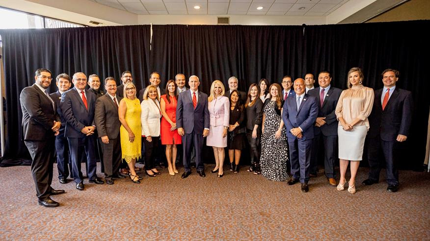 The Latinos for Trump national team includes Orlando's own Bertica Cabrera Morris (front row, white blazer).