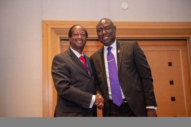 (l-r) Orlando District 6 Commissioner Samuel B. Ings and civil rights fighter Attorney Benjamin Crump stand together in unity after he endorses Ings for Mayor of Orlando. File Photo/Gregory Reed.